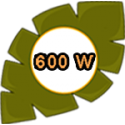 600 W